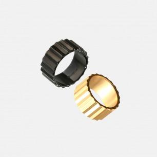 齿轮戒指-情侣款 | 黄铜镀金酷女孩中性设计