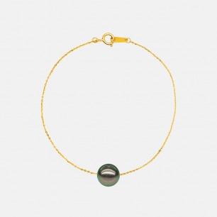 大溪地黑珍珠18k金手链  | 简约低调又奢华
