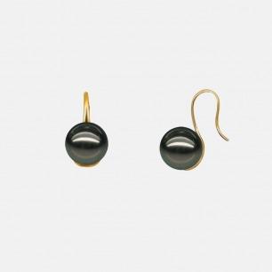 轻奢经典款黑珍珠真金耳环 | 大溪地黑珍珠 低调的奢华