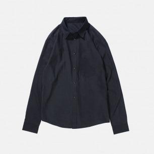 压皱洗水纯棉宽松拼接衬衫 | 独立原创设计师品牌