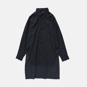 压皱洗水棉长款衬衫 | 独立原创设计师品牌