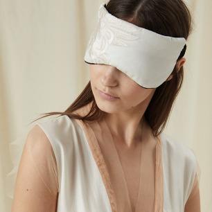 鸾鹊刺绣丝绵遮光睡眠眼罩   遮光顺滑 触感极致舒适