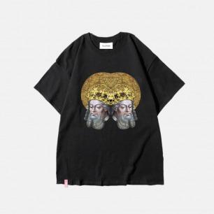 西方经典系列教皇纯棉T恤 | 艺术家联名款 黑白两色