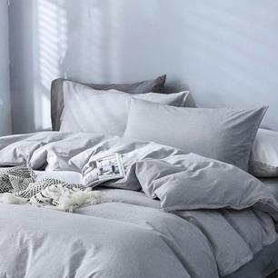 简约纯色全棉床品四件套 | 柔软亲肤 透气仿麻面料