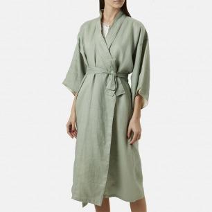 KIMONO高定真丝女睡袍   舒适亲肤的真丝+超细苎麻