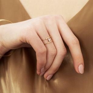 18K黄金土星幽灵环戒指 | 原创设计 转运珠戒指