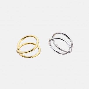 Infinity无限永恒镀金戒指I | 折叠的无穷符号 简约个性