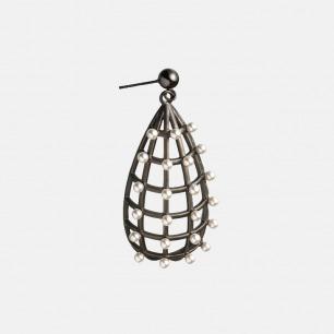 黑白系列水滴形珍珠耳环 | 珍珠耳饰也可以很朋克