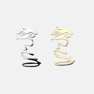 Stay Wild系列平面耳环 | 随意涂鸦造型 个性别具