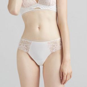 白色随型裁 丁字裤   时髦北欧简约风 清纯诱惑