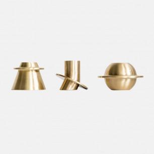 星球黄铜烛台  | 纯铜材质手感好 设计感强