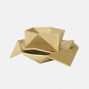 折纸形 置物盘 | 黄铜质感 可置物 摆件