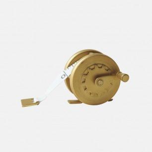 黄铜手动卷轴 | 复古飞轮小卷尺