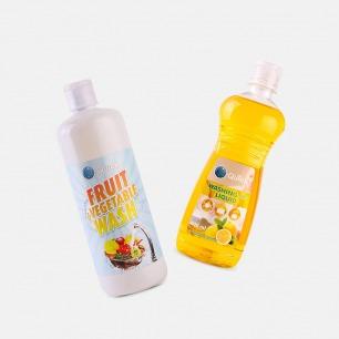 瑞士O-Quick果蔬餐具清洗组合   洗完的水果宝宝都能直接吃