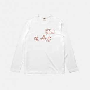 全棉长袖T恤-relax乐队 | 原创印花设计 经典百搭
