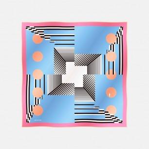 别具一格的几何设计方巾      大方巾   100%斜纹真丝 打破沉闷