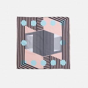 原创设计几何图案小方巾   简单易搭 打破墨守成规