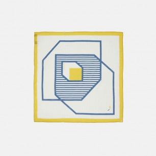 原创品牌图案构成小方巾   不对称的构图 简洁易搭配
