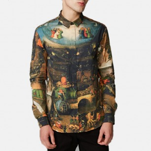 原创男士 博斯印花衬衫   原创设计师品牌 文艺复兴系列