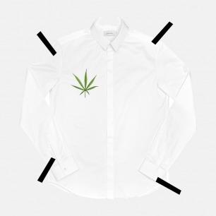 不一样的男士麻叶刺绣衬衫   原创设计品牌 黑白两色可选