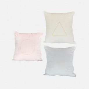 现代北欧风几何丝绒抱枕套 | 质地奢华而轻盈 图案清爽