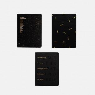 精致奢华的英文烫金笔记本 | 仿皮封面 A6尺寸易于携带