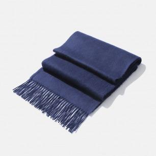 干净整洁男士小羊绒围巾   剪裁精致 手感绵软