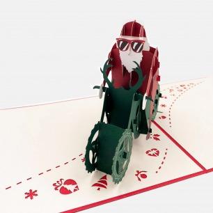 创意礼物圣诞老人3D贺卡 | 美的像件艺术品