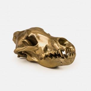 个性搞怪的铝制狼头骨摆件 | 时尚大牌DIESEL合作款