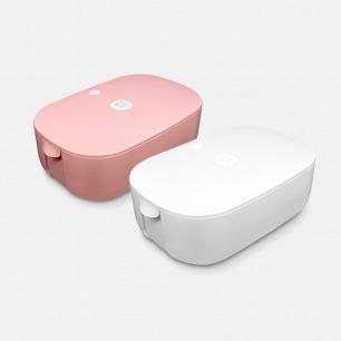 贴身衣服干衣盒 白/粉色 | 温暖烘干 巴氏杀菌 双层收纳