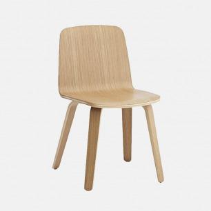 木纹简约风餐椅 JUST系列 | 优雅造型 2款木色居家百搭