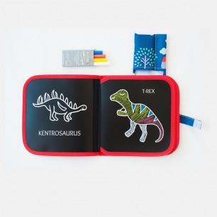无尘粉笔填色画册系列套装   便携小画板 随时想画就画