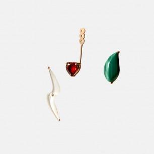 """可自由组合的18k钻石耳饰   多种佩戴方式的""""可变""""耳饰"""