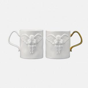 天使红茶骨瓷杯 | 24k金喷制,经典icon