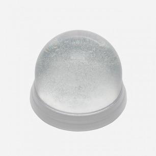令人心灵澄净的魔法水晶球 | 纯净无暇质感 雪花闪烁效果 (银/白)