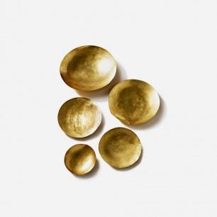 黄铜碗碟 五件套(大/小号)