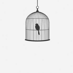 鸟笼图案墙纸