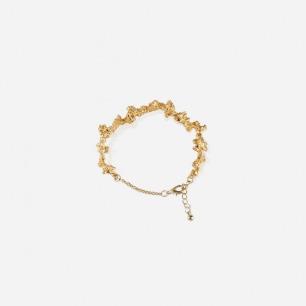金色岩石不规则手链 | 现代感十足 奢华闪耀