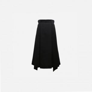 半褶半平中裙