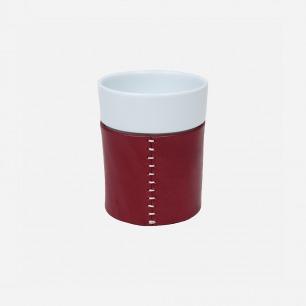 皮革杯-多色   日本的手工陶瓷品牌
