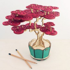 flat packed cherry bonsai tree kit by pack & tickle