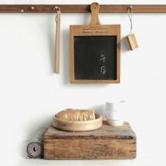 作旧法语实木框把手方形可悬挂小黑板