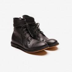 KINKLE WORKSHOP 植鞣牛皮绑带皮靴