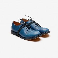 KINKLE WORKSHOP 植鞣牛皮绑带德比鞋