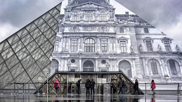 """当卢浮宫和金字塔""""合二为一""""/当卢浮宫和金字塔""""合二为一"""""""