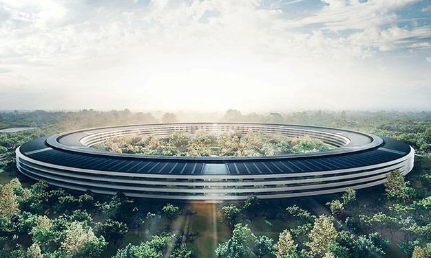 """乔布斯生前参与设计的""""苹果飞船""""总部!即将落成!/乔布斯参与设计的苹果飞船即将落成"""