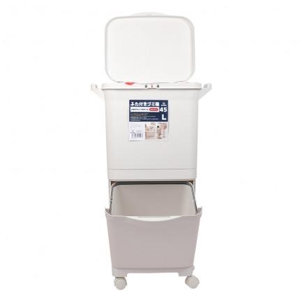 颜色/45L单盖分类垃圾桶