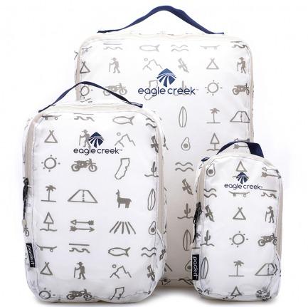 颜色/白色玛雅印花单面衣物打理袋(3件套)