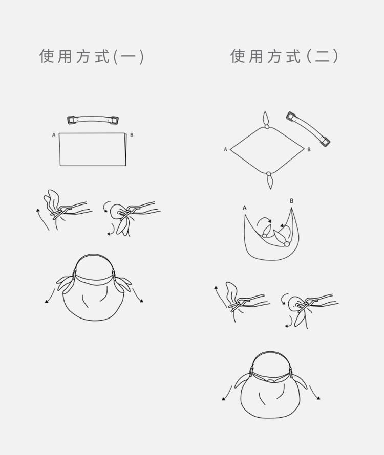 斑点现代简约丝巾日式风吕敷(红色)