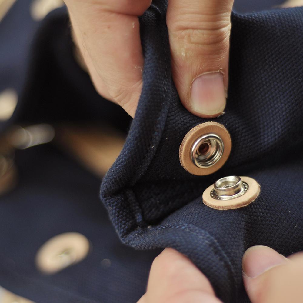 简约帆布植鞣皮单肩包 | 造型时尚简约 纯手工制作